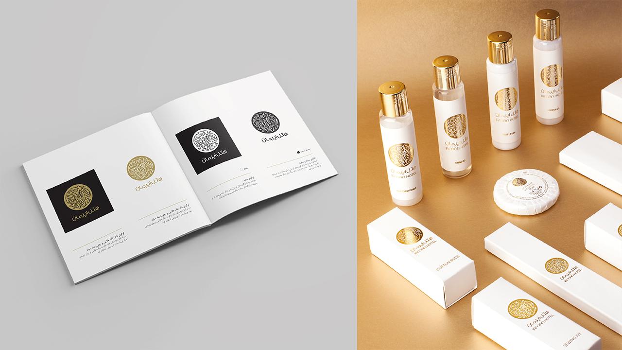 هتل ایرمان قشم، پروژه برندسازی و طراحی هویت بصری برند – 1001 برندینگ