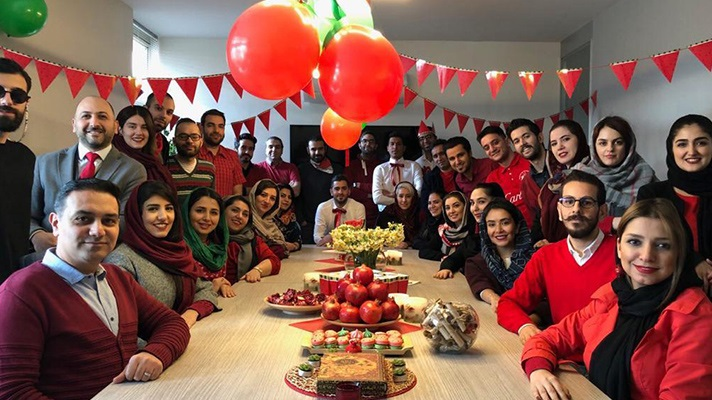 Dubsmash of the dnaunion members in the Oriental Yalda